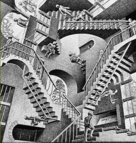 M.C. Eschers trappor